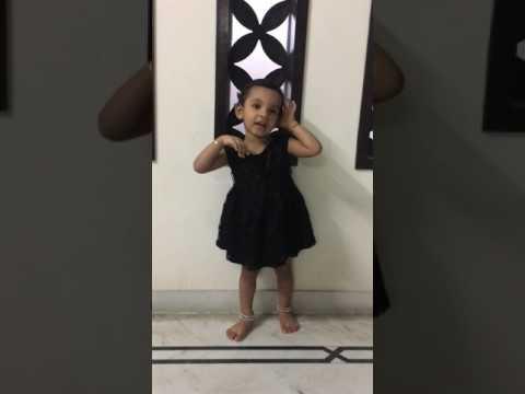 buddhir balam yasho dhairyam song by 24 months old Aarohi