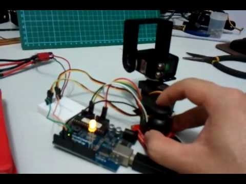 Arduino Servo Pan Tilt Dual Mode Control Using Joystick