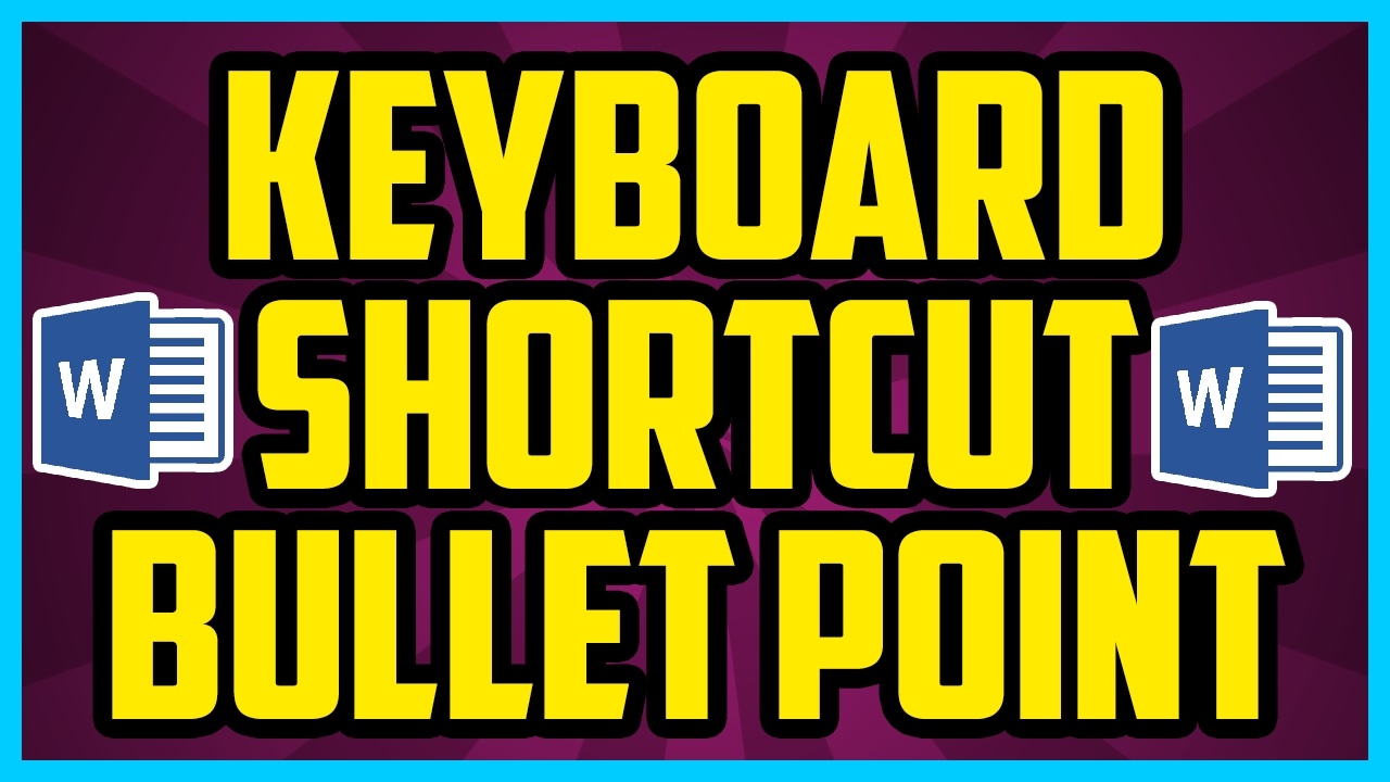 how to create a bullet point on keyboard