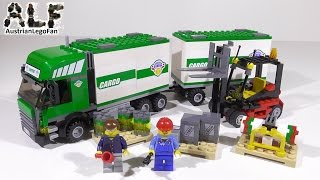 Lego City 7733 Truck & Forklift / Lkw Mit Gabelstapler - Lego Speed Build Review