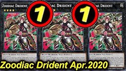 【YGOPRO】ZOODIAC DRIDENT DECK Apr.2020 - NEW TCG BANLIST!!