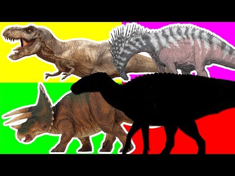 Wrong Shadow Dinosaurs. Match Up Dinosaurs!  Learning Triceratops Tyrannosaurus Rex For Kid Cartoons