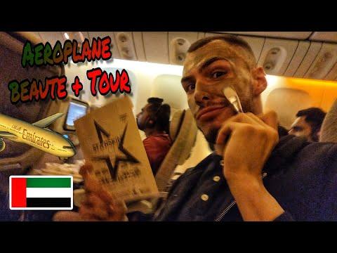 Κάνω beaute και tour στο αεροπλάνο (Emirates) ! ✈️🇦🇪 | Tsede The Real