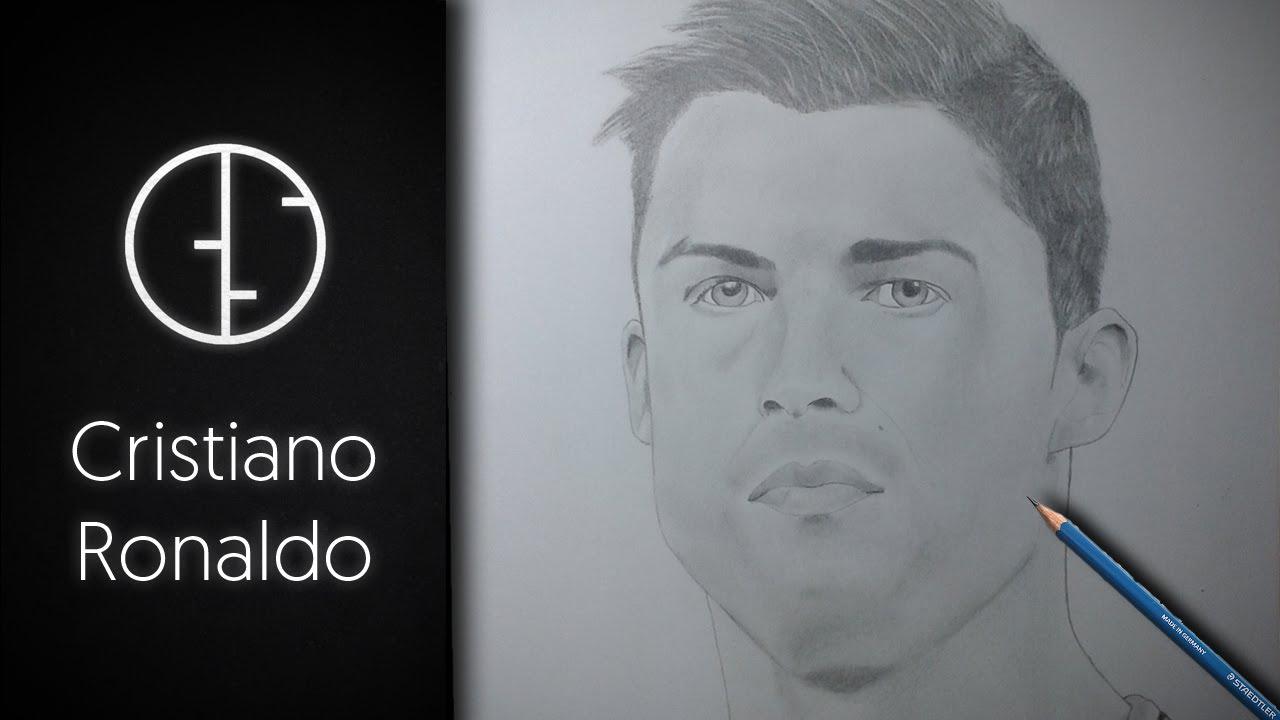 Portrait Drawing Cristiano Ronaldo Realistic Pencil Speed Portrait Drawing Youtube