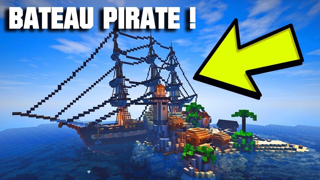 Un bateau de pirate ultra r aliste dans minecraft youtube - Photo de bateau pirate ...