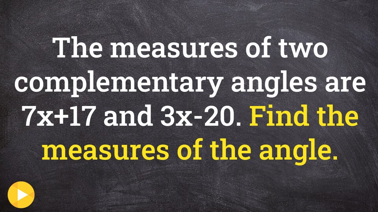 Finding the value of x using complementary angles - Online Tutor