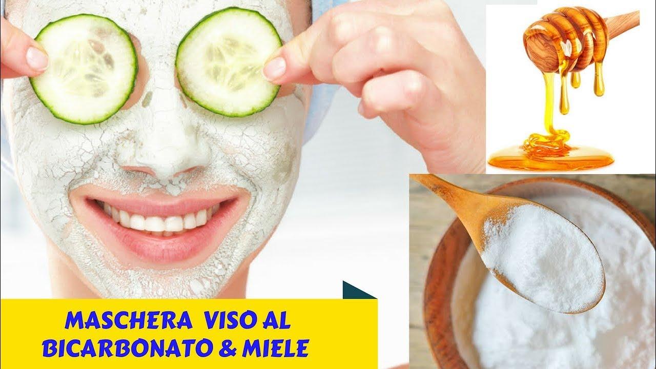 maschera facciale miele e zucchero