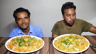 Crispy Corn Chaat Eating Challenge | Spicy Sweet Corn Chat Eating Competition | Food Challenge India