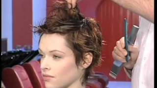 dare chisel short hair style training video
