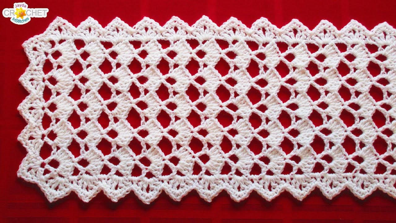 Festive Table Runner Crochet Pattern Looks Fancy Easy Pattern