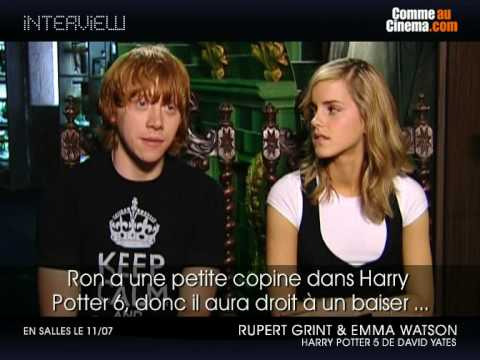Rupert Grint and Emma Watson Interview - YouTube