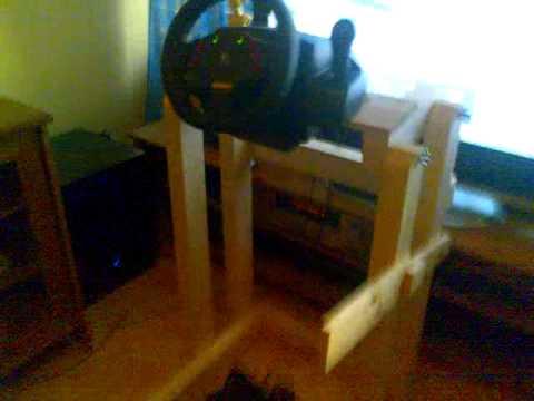 DIY wooden ps3  DriveSeat