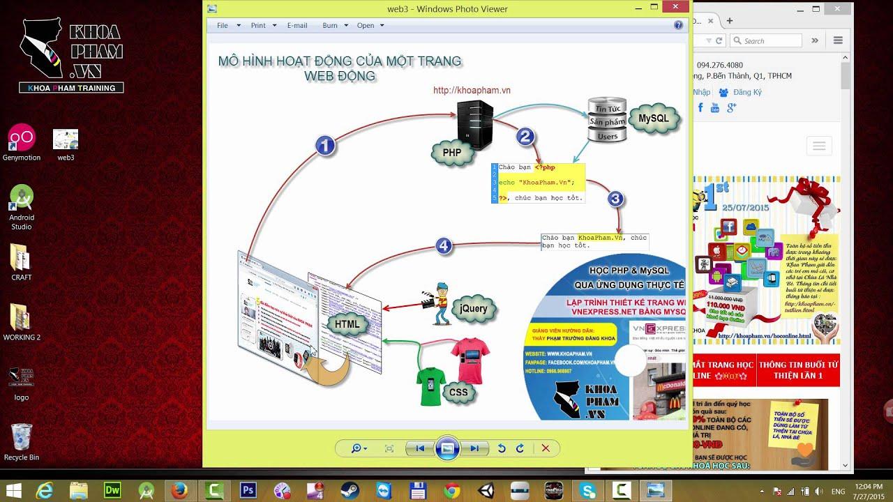 Khóa học lập trình PHP&MySQL cơ bản tại KhoaPham.Vn