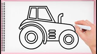 How to Draw Tractor Step by Step Learn Drawing a Tractor Easy and Simple for KIds