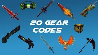 20 Gear Codes on ROBLOX