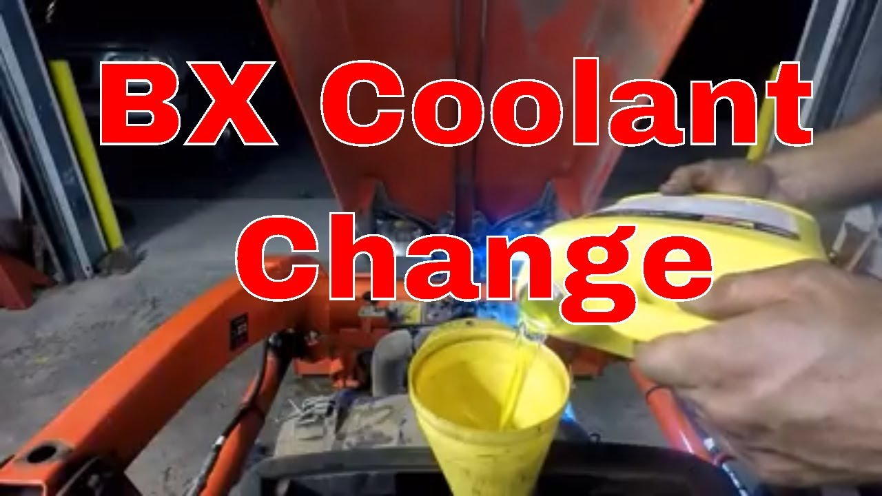 Kubota Bx Coolant Change Youtube Frozen Engine