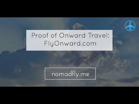 Book proof of onward travel with FlyOnward
