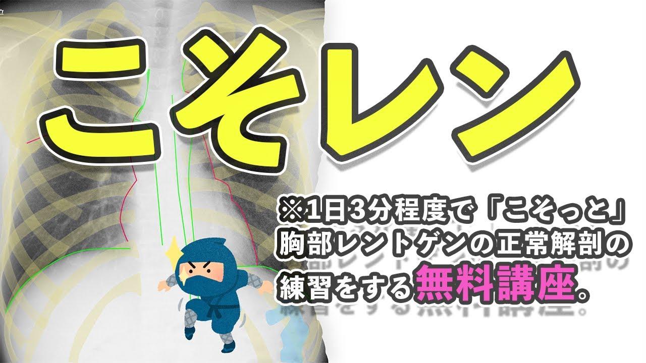 【無料】31日間で学ぶ胸部レントゲン正常解剖オンライン講座「こそレン」