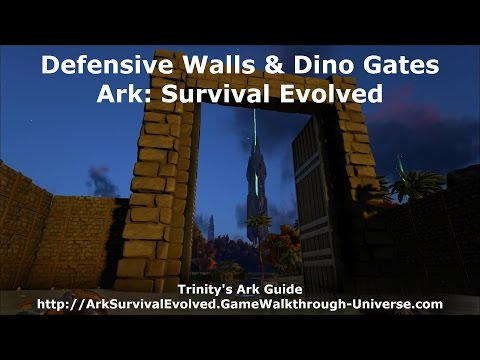 Defensive Walls And Dino Gates   2nd Edition   Ark Survival Evolved