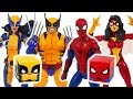 Spider-Man and X-Men Wolverine! Defeat dinosaurs! #DuDuPopTOY