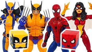 Marvel Spider-Man, Spider-Girl and X-Men Wolverine, Wolverine Woman! Defeat dinosaurs! #DuDuPopTOY