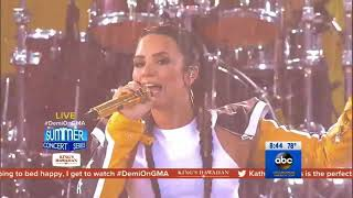 Demi Lovato - Sorry Not Sorry (Live on Good Morning America) - August 18