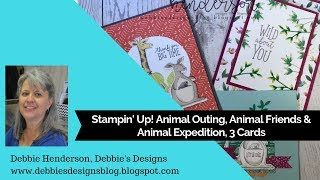 Stampin' Up! Animal Expedition Bundle & Two Card Folds