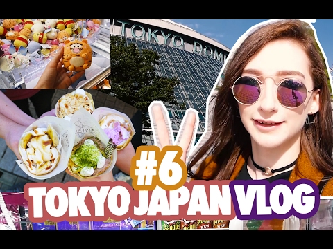 JAPAN VLOG 🇯🇵 #6 / Tokyo Dome, Japanese Food court & Crêpes, Akiba Yodobashi Camera...