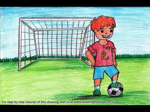 How To Draw A Goal Keeper For Kids Video Drawingtutorials101 Com