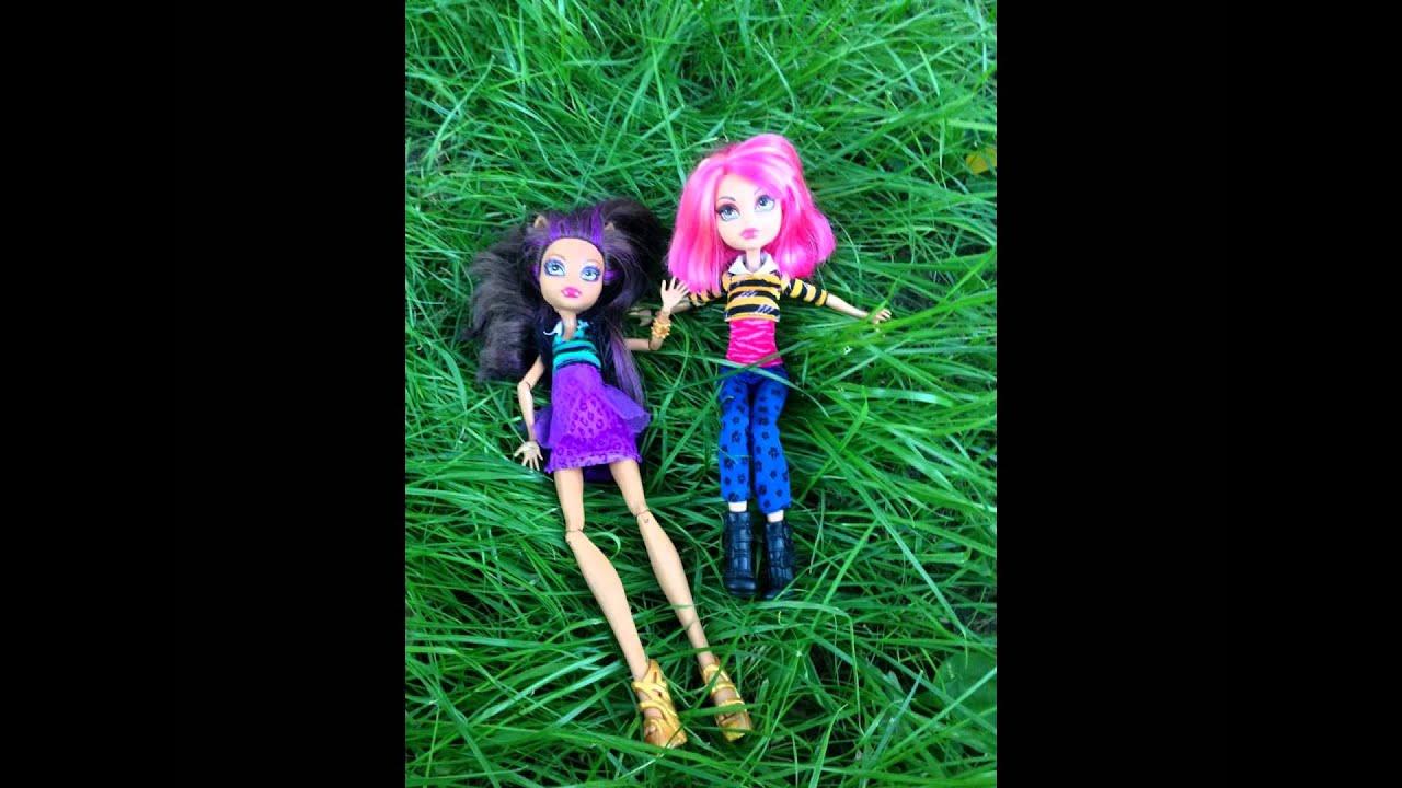 Куклы монстер хай на природе