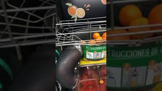 스페인 마트 오렌지 착즙 즉석 판매