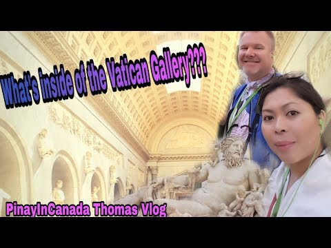WHAT'S INSIDE OF THE VATICAN GALLERY/ROME,ITALY/PinayInCanada Thomas Vlog