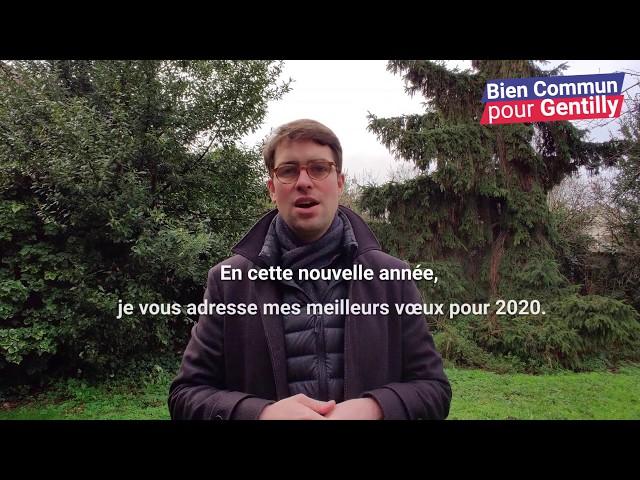 Voeux 2020 de Benoît Crespin du Bien Commun pour Gentilly