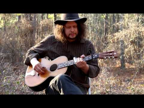 Crossroad Blues on Antique Parlor Guitar  Delta Blues  Edward Phillips