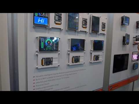4D Systems TFT Displays discussion at Embedded World 2017