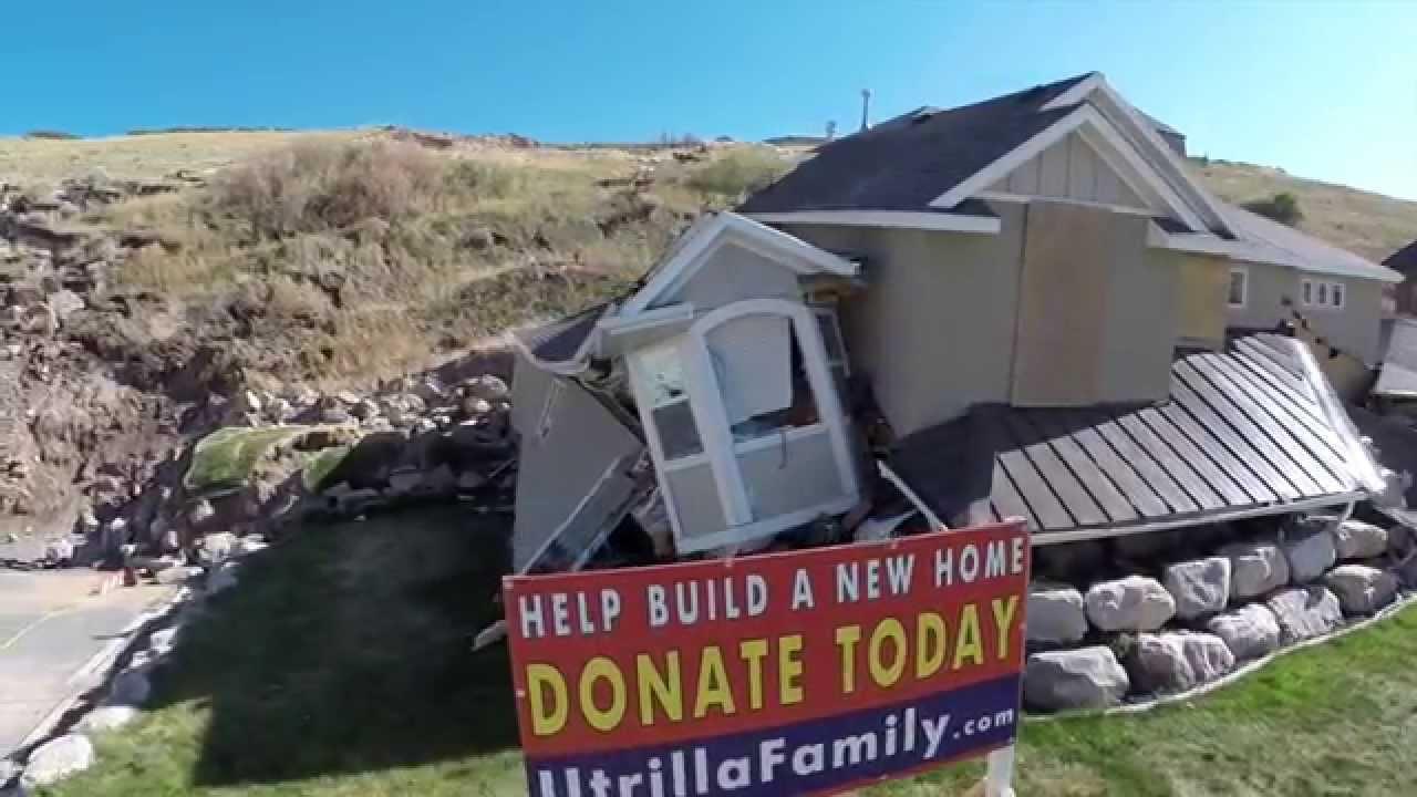 Eaglepointe Landslide Flyover North Salt Lake Youtube