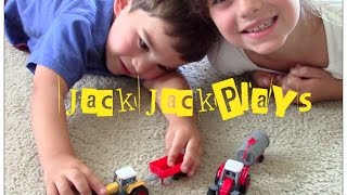 Farm Tractors for Children-  toy tractor UNBOXING with JackJackPlays