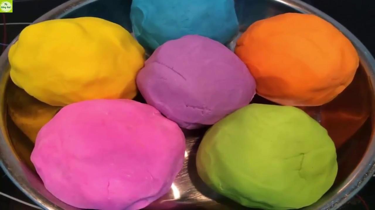 Cách làm đất nặn Play Doh an toàn bằng bột mì   Hướng dẫn bé chơi đồ chơi đất sét  Mẹ thông thái