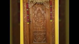 Ganesh wooden door, main entrance wooden door with Ganesh,front door design with ganesh