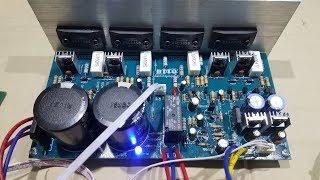Test Nhanh Mạch Công Suất stereo 4 Sò SANKEN Liền Nguồn Và Cách Đấu Mạch