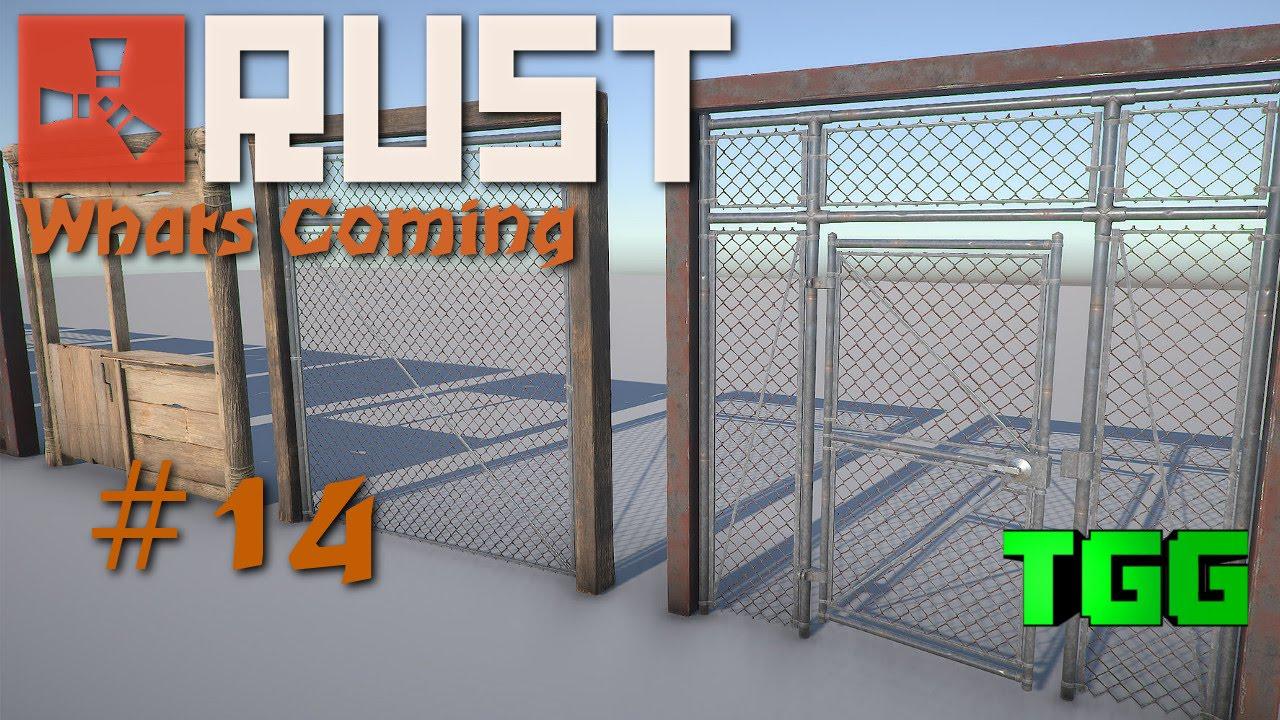 Rust What S Coming Building Frames Cell Doors Chain Link Double Doors 14 Rust News Updates Youtube