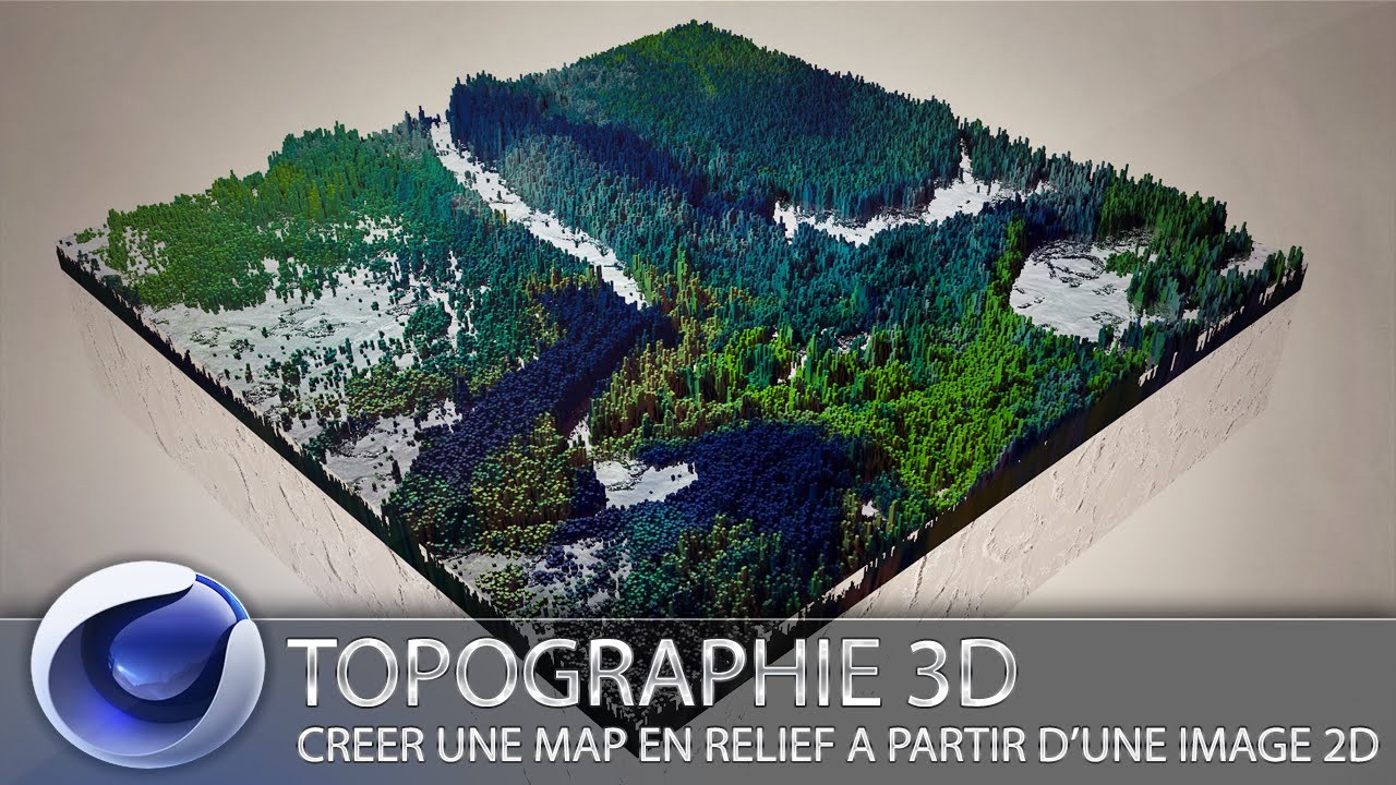 C4d fr topographie 3d cr er une map en relief partir d 39 une image 2d youtube - Logiciel amenagement exterieur a partir d une photo ...