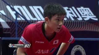 男子シングルス準決勝 張本智和(日本) VS ボル(ドイツ)