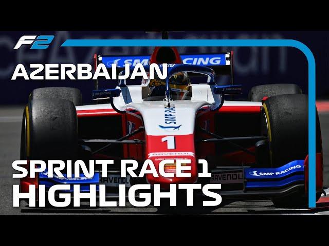 F2 Sprint Race 1 Highlights   2021 Azerbaijan Grand Prix