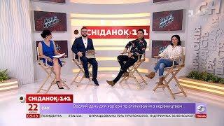 У студії Сніданку переможниця 'Голосу країни 9' Оксана Муха та її тренер Дан Балан