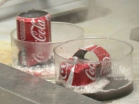 Coke Cans in Acid and Base - Periodic Table of Videos
