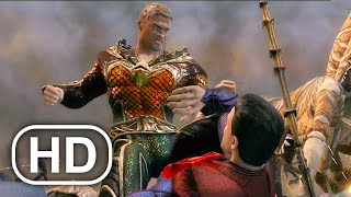 JUSTICE LEAGUE Superman Army Vs Army Of Aquaman Fight Scene 4K ULTRA HD - Injustice Cinematic