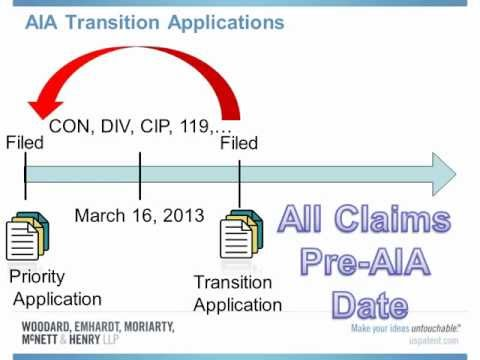 America Invents Act (AIA) Transition Patent Applications Presentation 20-Mar-2013