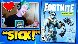 NINJA REACTS TO *NEW* DEEP FREEZE BUNDLE (FROSTBITE SKIN) | Fortnite Daily Funny Moments Ep.219