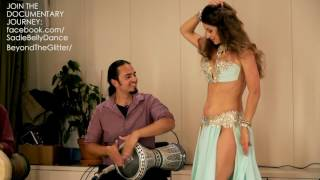Repeat youtube video Sadie Bellydance and David Hinojosa: Improvisation Drum Solo 2016